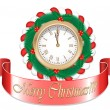 Gold Christmas Watch — Imagen vectorial