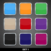 Set Of Colorful App Icon Templates, Buttons, Backgrounds. Set 1. — Stock Vector