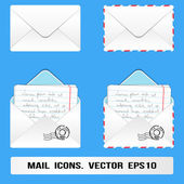 E Mail Icons set. Vector, eps10 — Stock Vector