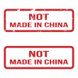 Not Made In China. Grunge Rubber Stamp Set. For Any Background. — Stock Vector