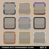 Set Of Colorful App Icon Frames, Templates, Buttons. Set 2. Vect — Vector de stock