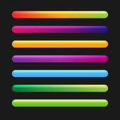 Barra di avanzamento impostato per i giochi. impostare a 1. vector — Vettoriale Stock