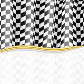 Racing Background. Checkered Flag. Vector eps10 — Stock Vector