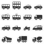 Transport Icon Set. Vector — Stock Vector