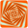 Abstract Spiral Background. Orange. Vector Illustration — Stock Vector