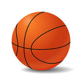 Realistic Basketball Ball. Vector Illustration — Stock Vector