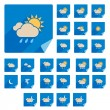 Trendy Flat Weather Icon Set With Long Shadow. Vector — Stock Vector #28632439