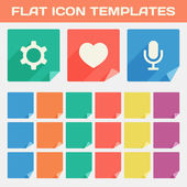 Set Of Trendy Flat App Icon Templates With Different Folded Corn — Stock Vector