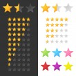 Rating Stars Set. Vector — Vector de stock #35437343