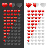 Rating Hearts Set. Vector — Stock Vector