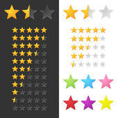 Rating Stars Set. Vector — Stock Vector