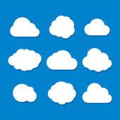 Set di nuvola stile cartone animato. vector — Vettoriale Stock