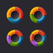 Circular Chart Template Set. Vector — Vetorial Stock