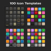 100 App Icon Templates. Set. Vector — Stockvektor