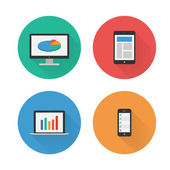 Responsive Design. Flat Icons Set. Vector — Stock Vector