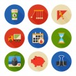 Flat Icons Set. Business Office. Vector — Stock Vector #38780743