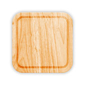 Wooden Cutting Board With Groove. Vector — Stock Vector