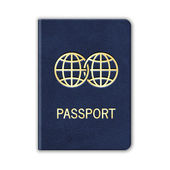 Realistic Passport. Isolated On White. Vector — Stock Vector