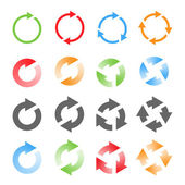 Rotating Arrows Set. Vector Illustration — Stock Vector