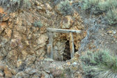 Old mine shaft. HDR photo. — Stock Photo