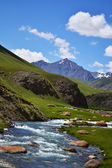 Kyrgyzstan nature Landscape — Stock Photo