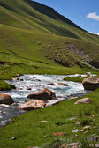 Kyrgyz mountain river landscape — Stock Photo