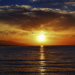 The Issyk-kul lake . Sunrise — Stock Photo