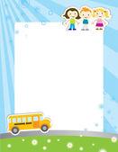 Okul poster için şablon arka plan — Stok Vektör