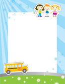 Template background for school poster — Stock Vector
