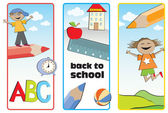 Back to school labels — Vettoriale Stock