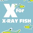 X for the X-ray fish, an animal alphabet for the kids — Stock Vector #14533805