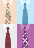Shirt and necktie in four version — Stock Vector