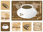 Concepto de café — Vector de stock