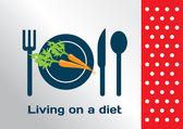 生活饮食的符号上 — 图库矢量图片