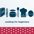 Cooking for beginners set — Stock Vector