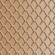 Chain link fence with copper background; vector - Stock Vector