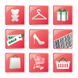 Shopping icons set. Vector design — Stock Vector