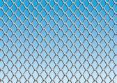 Chain link fence with blue sky background; vector — ストックベクタ