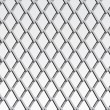 Chain link fence; gray; vector — Stock Vector