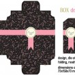 Royalty-Free Stock Imagen vectorial: Box design romantic, die-stamping, folding, ready, dimensions 73