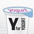 Y for yogurt, the food alphabet — Stock Vector