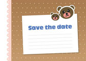 Save the date, template, children's style — Stock Vector