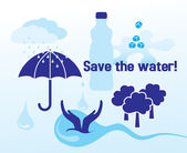 Save the water - concept — Stock Vector