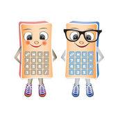 краба калькулятор mascote, мужские и женские, изолированные на wh — Cтоковый вектор