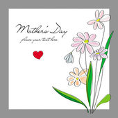 Flowers, card for a Mothers Day  — Stock vektor