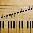 Foto Stock: Piano keys