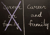 Career and family — Stock Photo