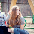 Boy and girl in the park — Stock Photo