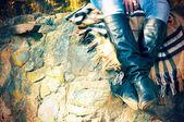 ブーツの足 — ストック写真