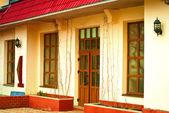 Fasada hotelu mini — Zdjęcie stockowe